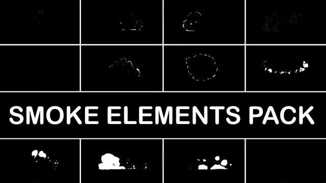 Hand Drawn Smoke Elements: Stock Motion Graphics