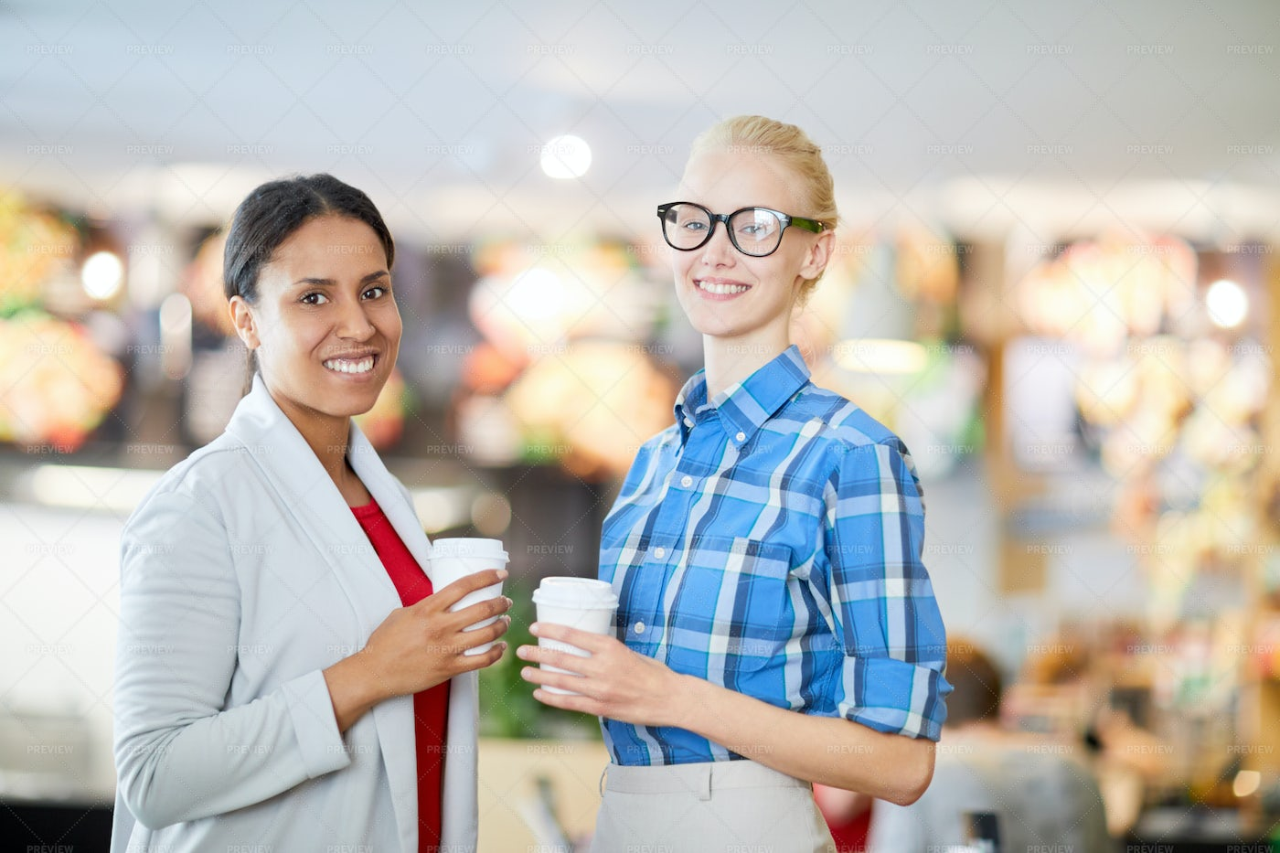 Women With Drinks: Stock Photos