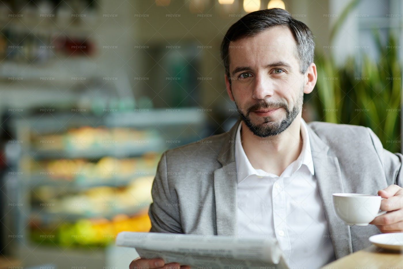 Man In Cafe: Stock Photos