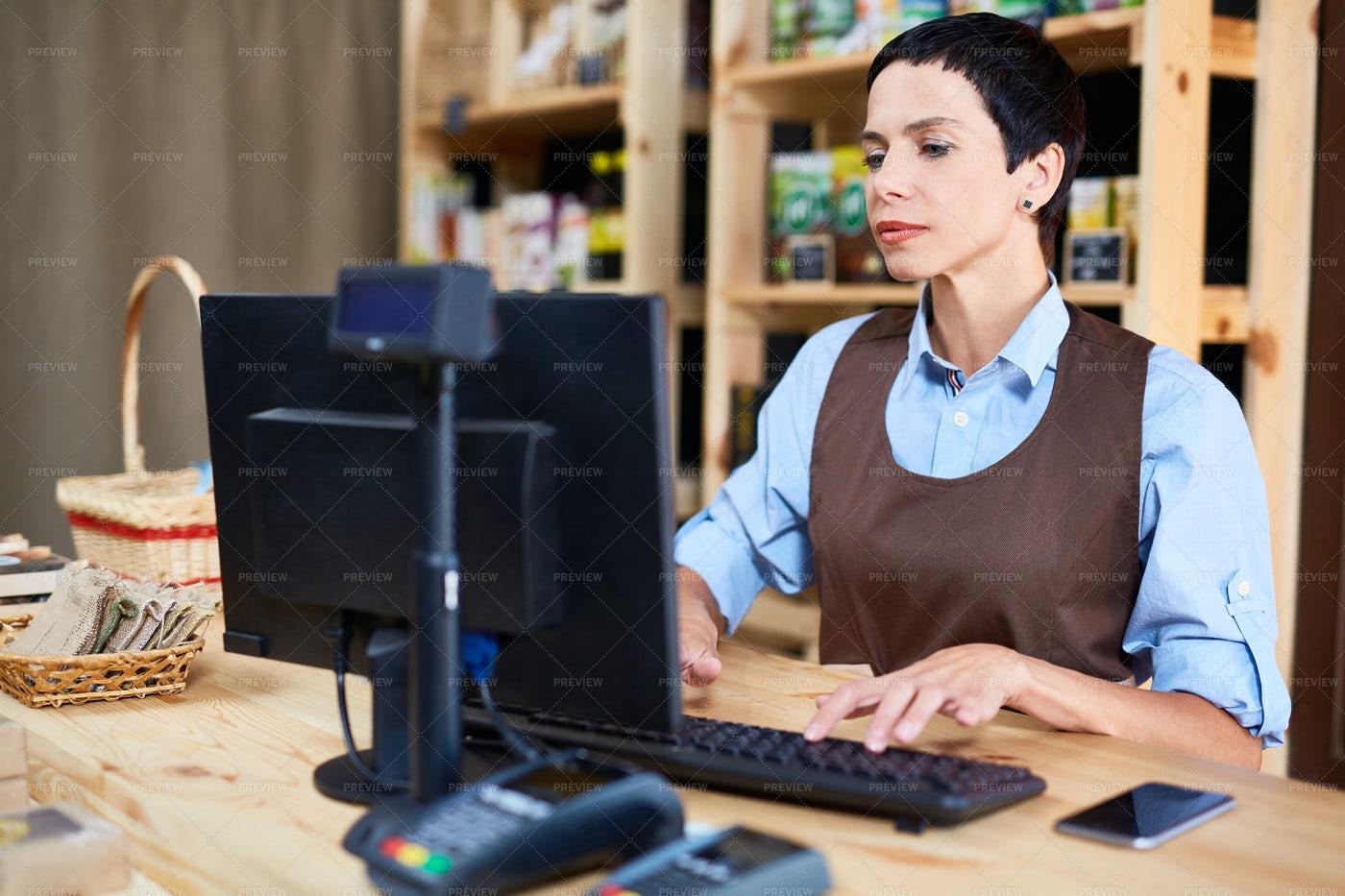 Working As Cashier: Stock Photos