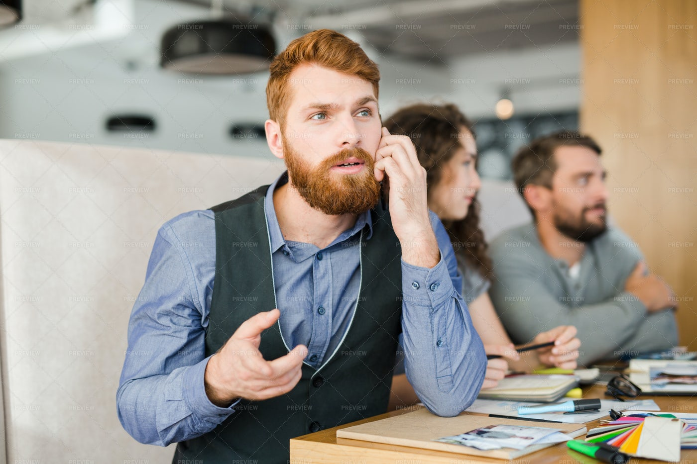 Consulting On The Phone: Stock Photos