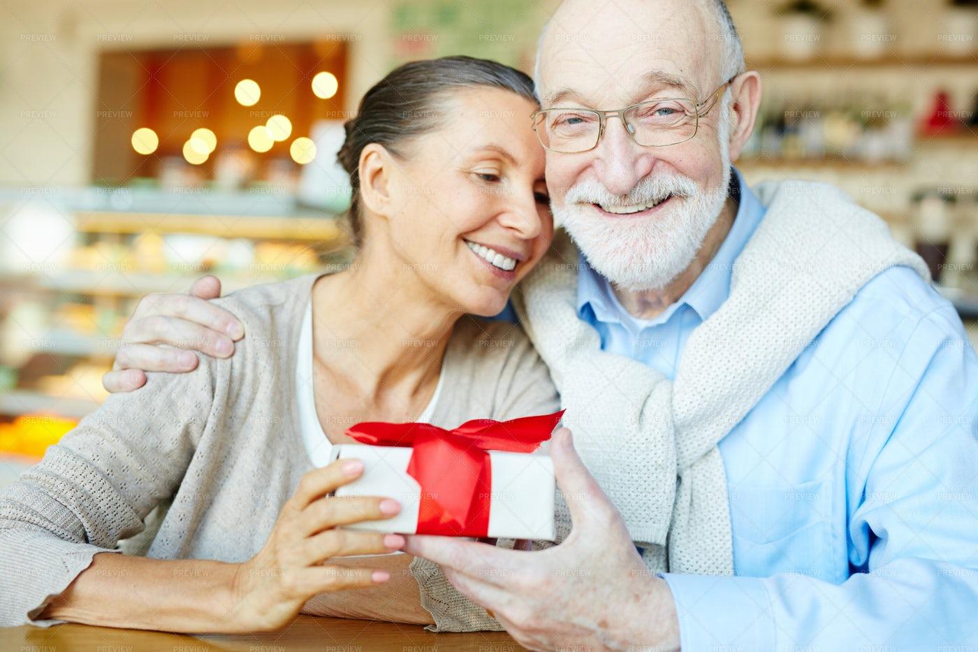 Affectionate Seniors: Stock Photos