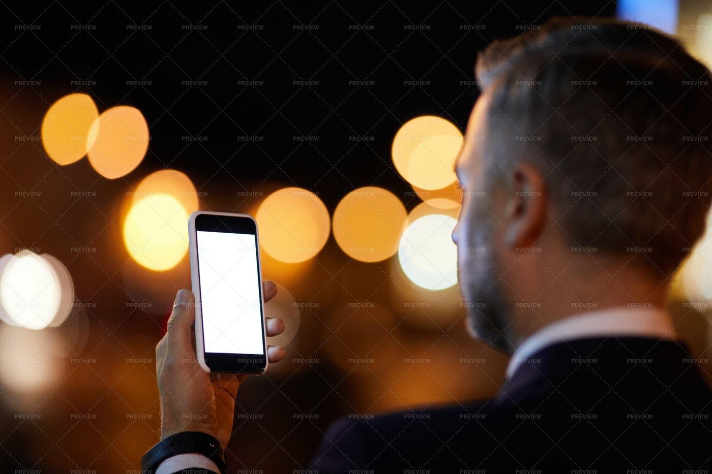 Night Selfie: Stock Photos