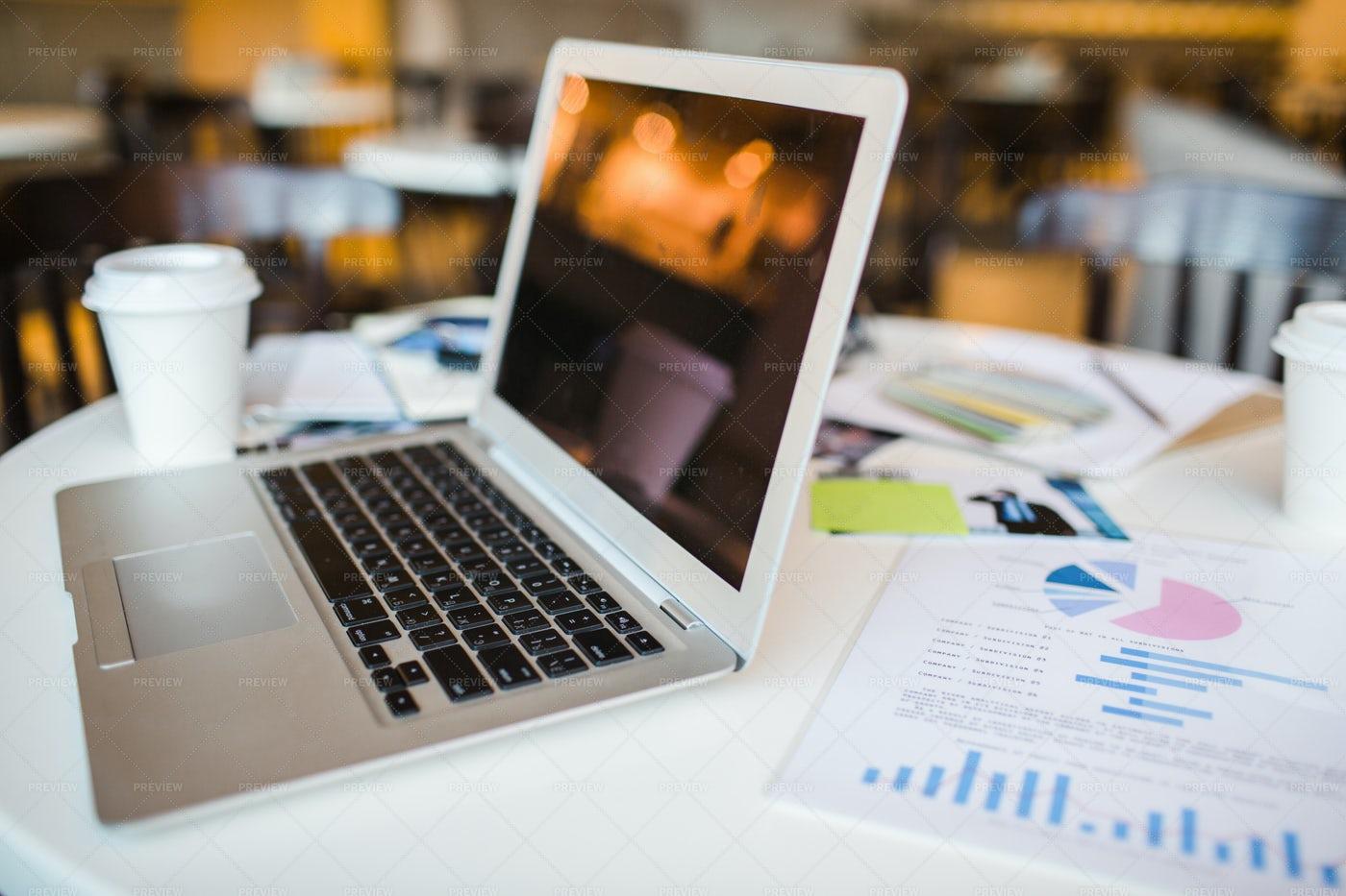 Laptop On Workplace: Stock Photos