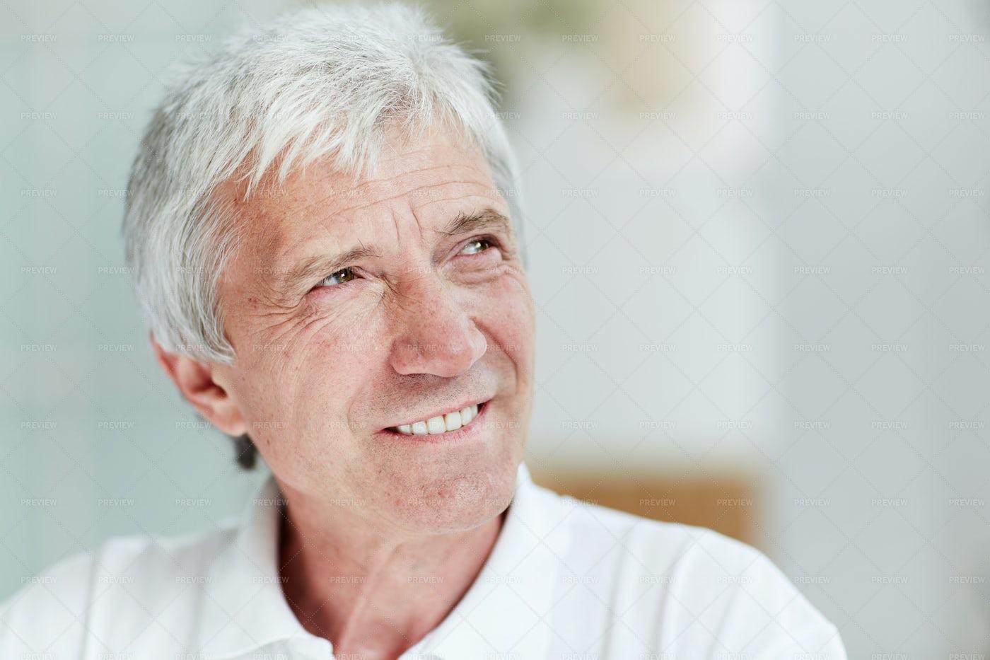 Senior Man With Warm Smile: Stock Photos