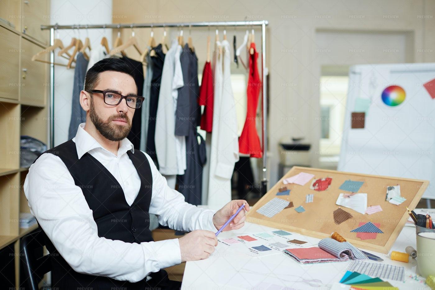 Man In Fashion Studio: Stock Photos