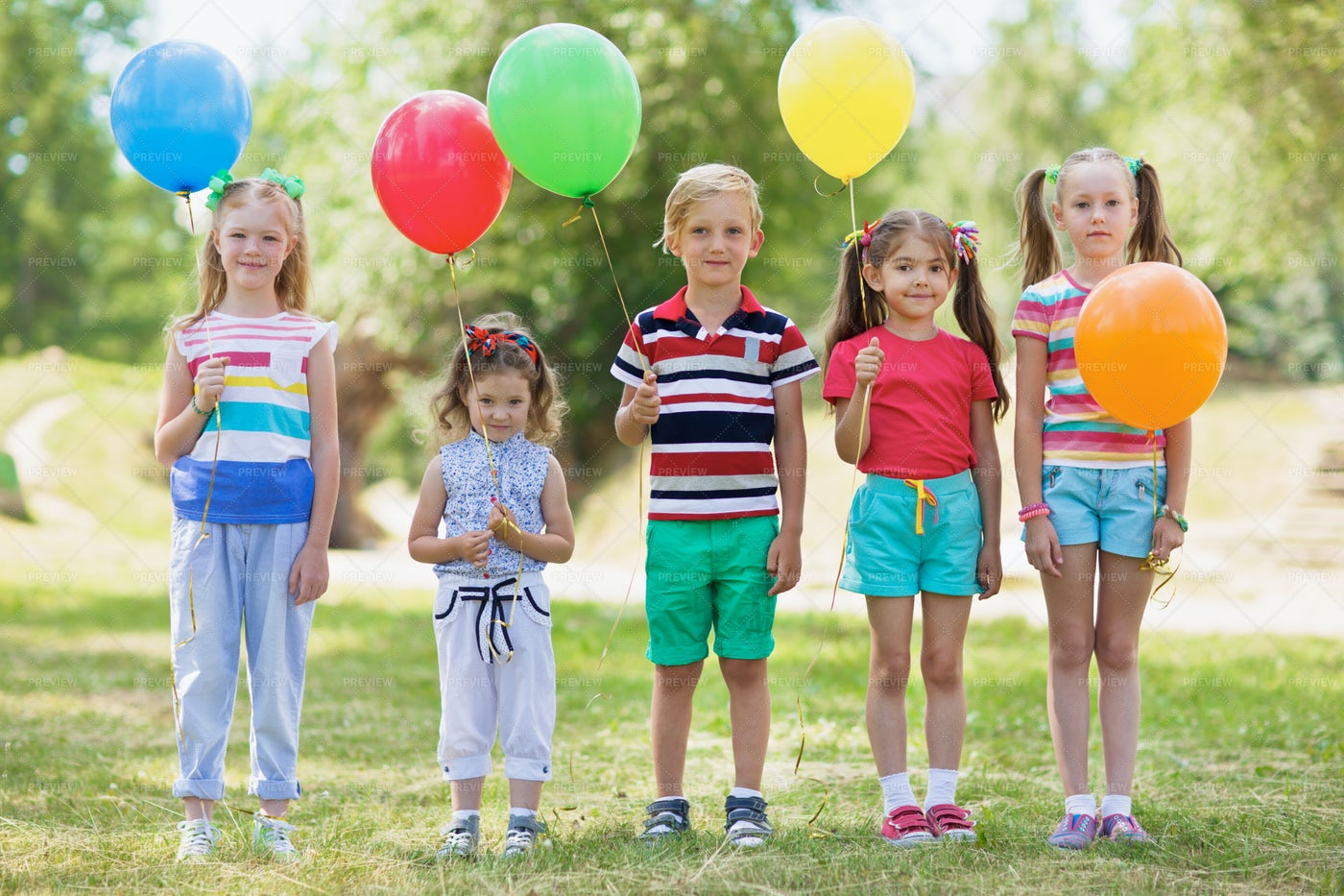 Kids With Balloons: Stock Photos