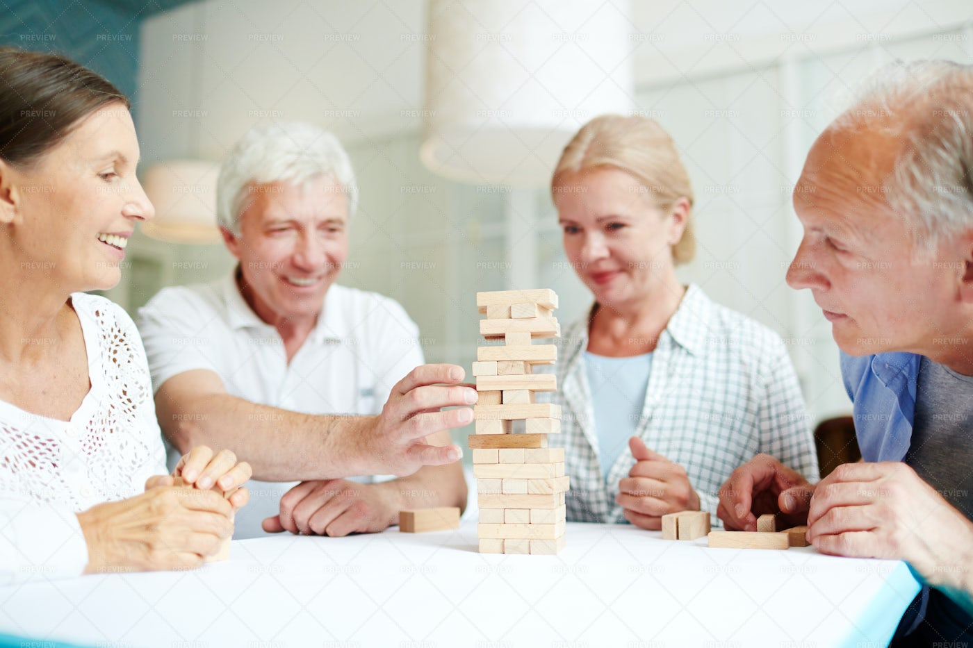 Having Fun With Childhood Friends: Stock Photos