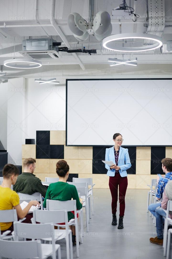 Speech Of Teacher: Stock Photos