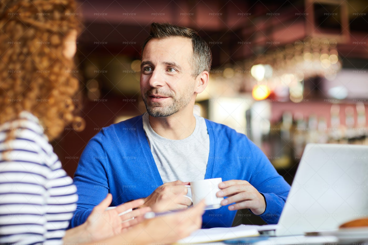 Handsome Businessman At Informal Meeting: Stock Photos