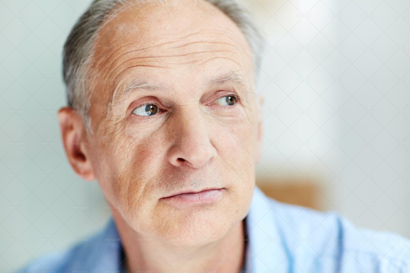 Calm Aged Man: Stock Photos