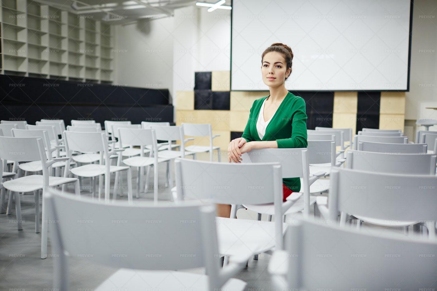 Woman On Chair: Stock Photos