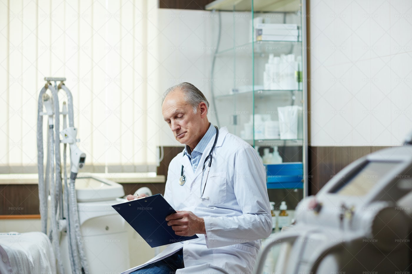 Filling In Medical Form: Stock Photos