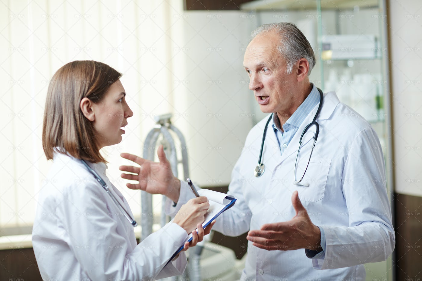 Talk Of Clinicians: Stock Photos