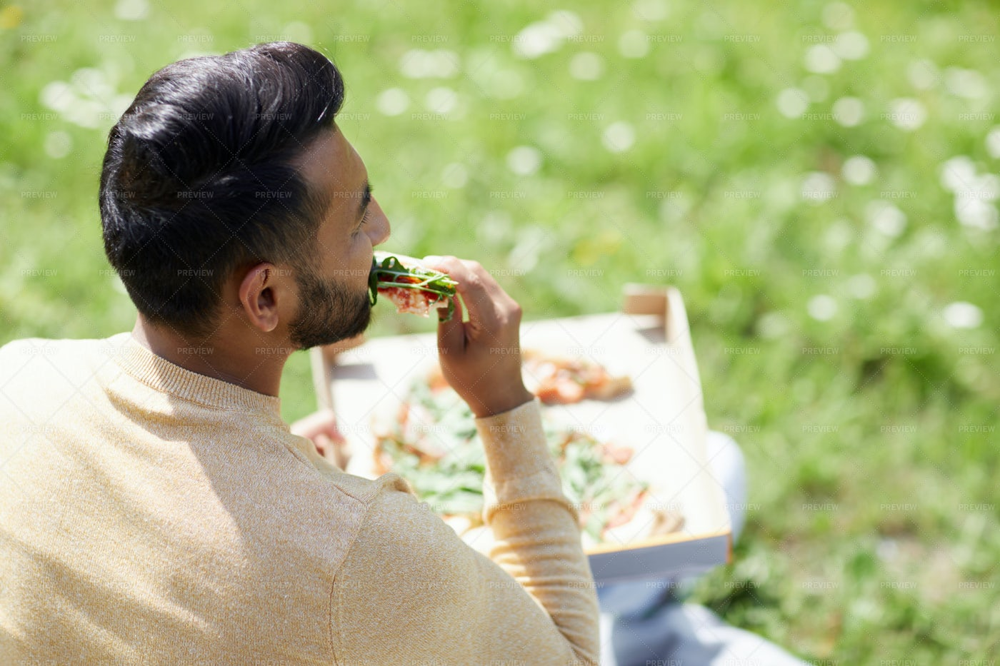Lunch On Sunny Day: Stock Photos