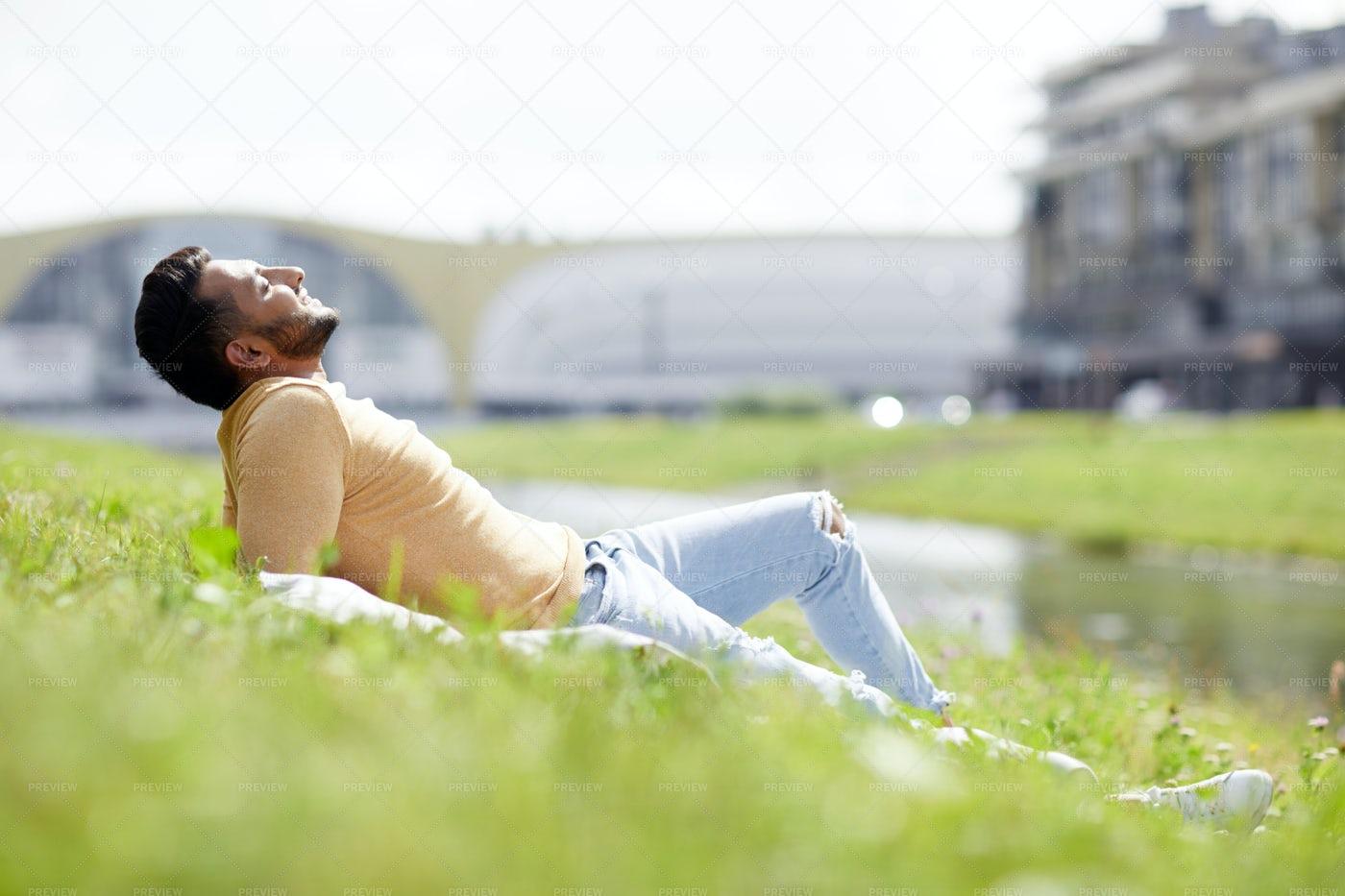 Enjoying Sun: Stock Photos