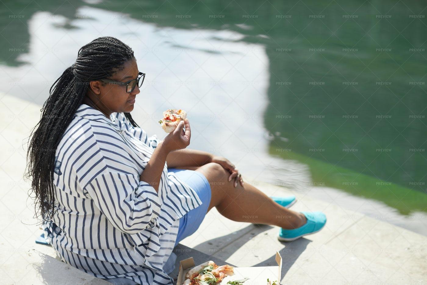 Girl Having Lunch: Stock Photos
