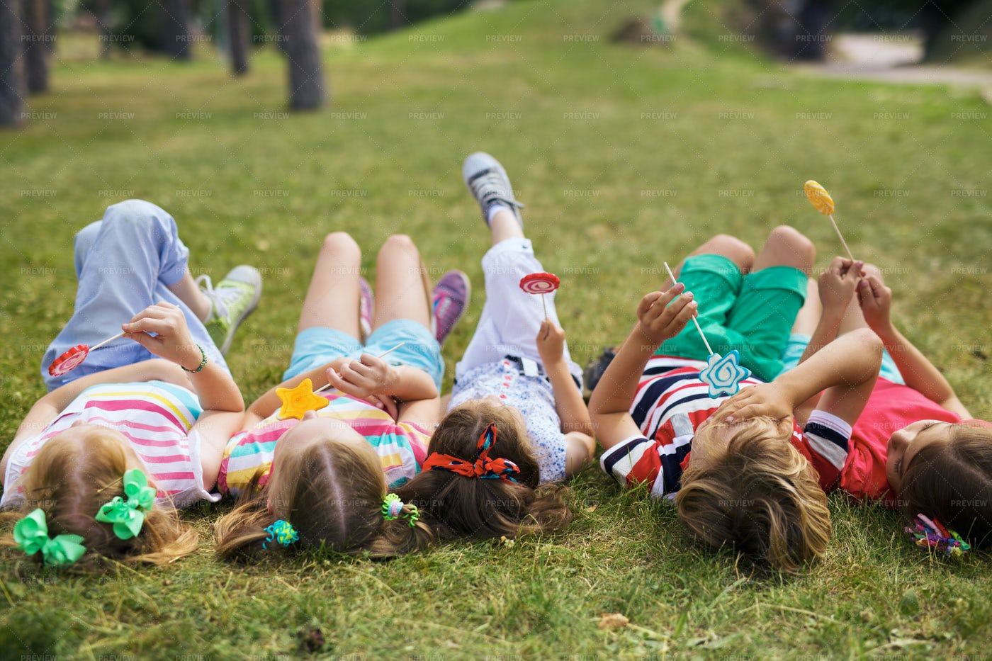 Having Good Time In Park: Stock Photos