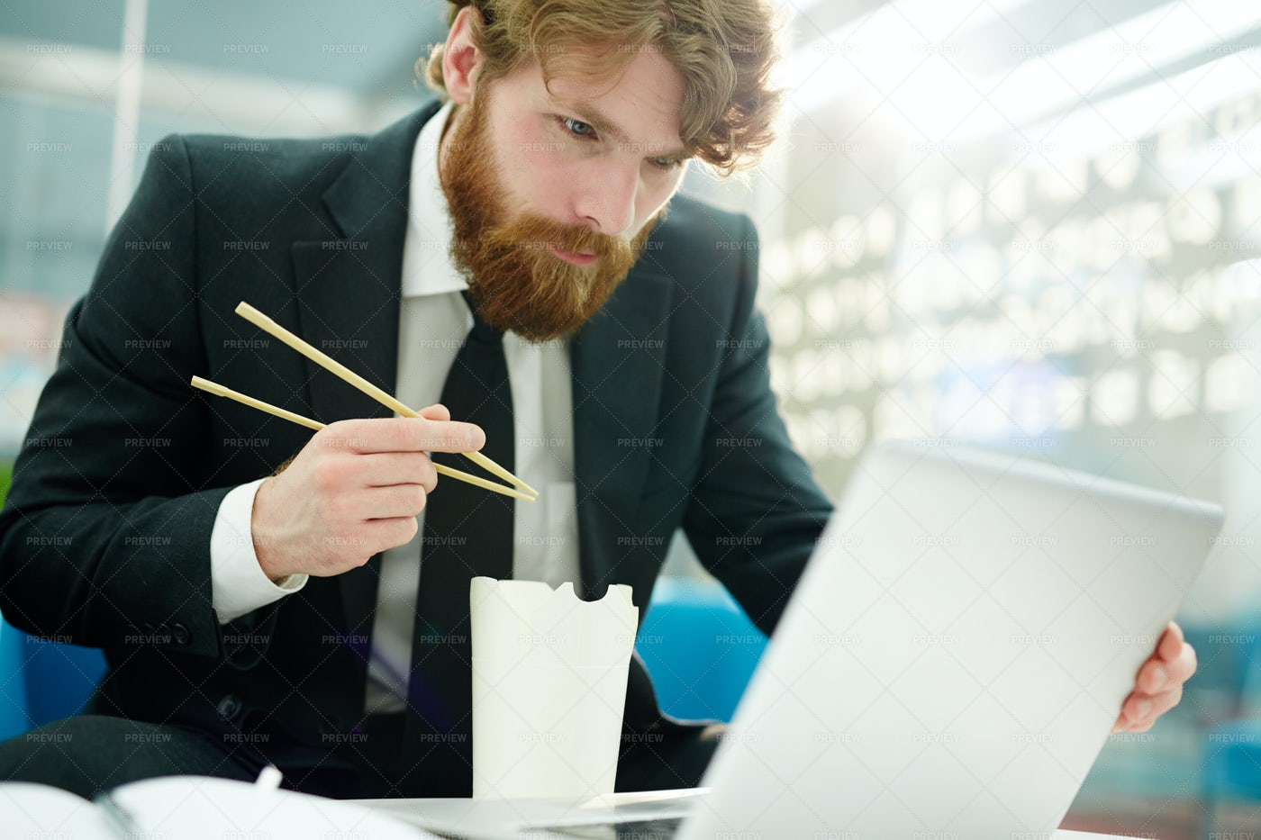 Networking While Dining: Stock Photos