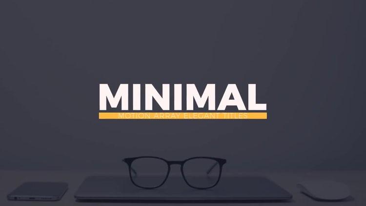 Elegant Minimal Titles: After Effects Templates