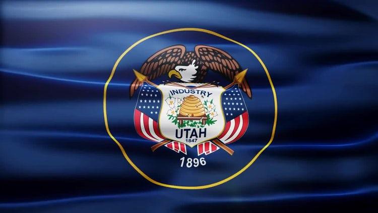 Utah Flag: Stock Motion Graphics