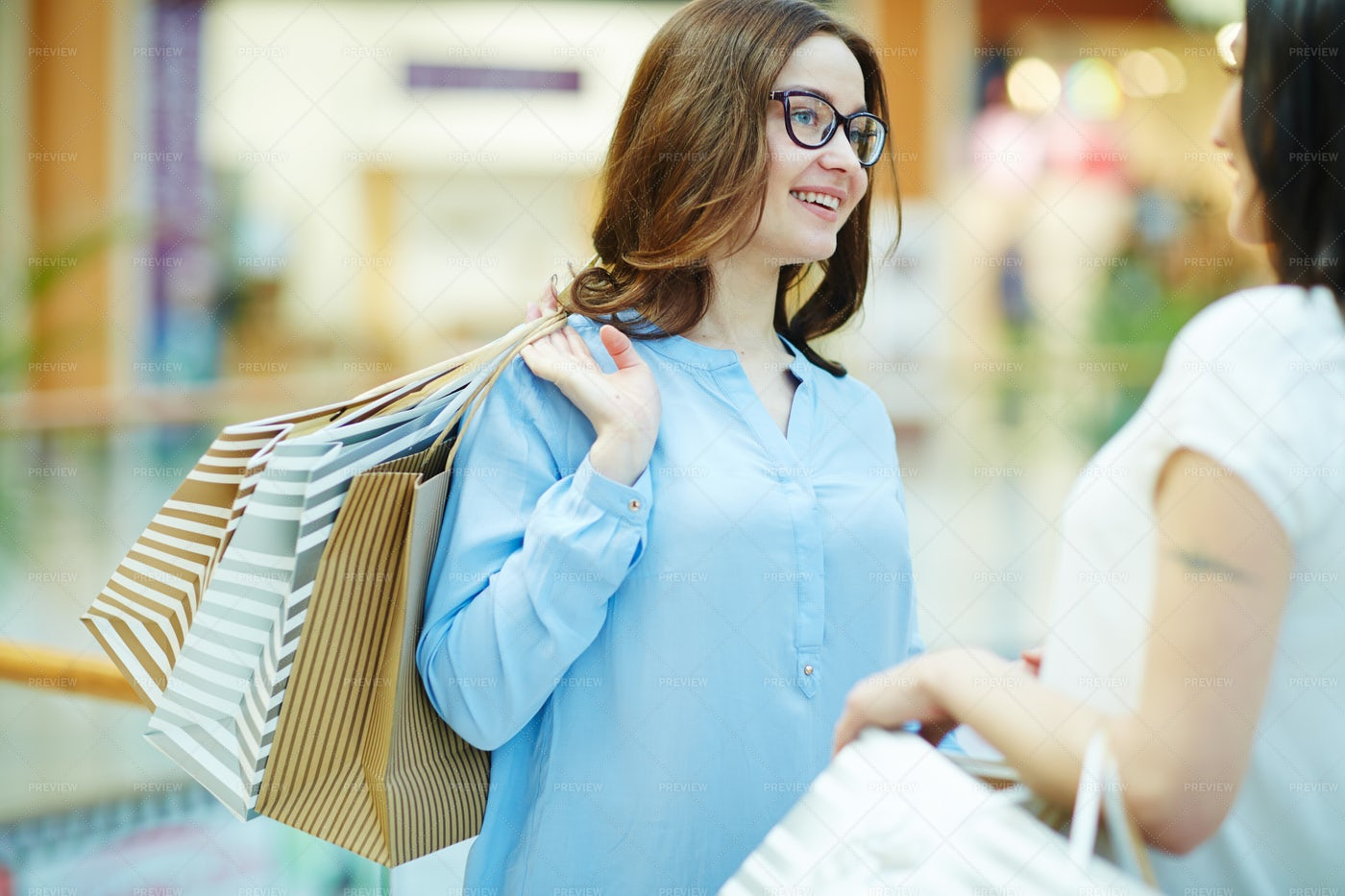 Shopping With Friend: Stock Photos