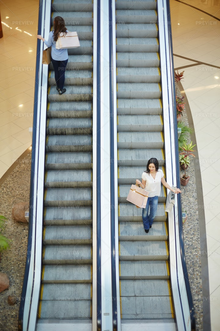 Leisure In The Mall: Stock Photos