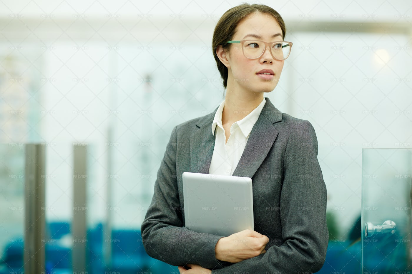 Businesswoman With Tablet: Stock Photos