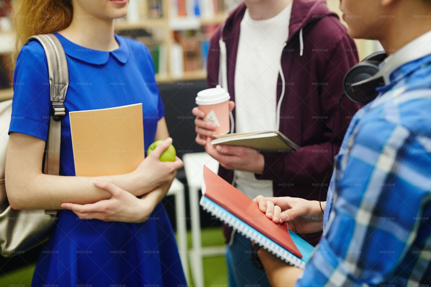 Learners With Copybooks: Stock Photos