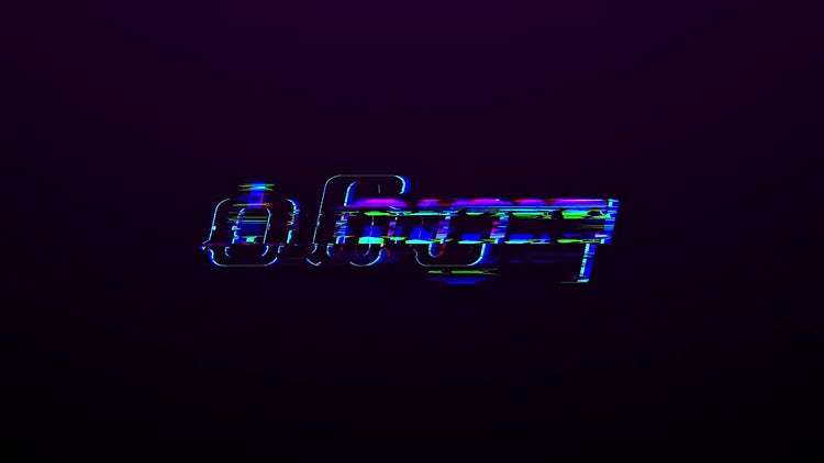 Colorful Glitch Logo: After Effects Templates