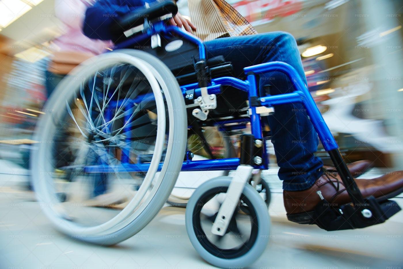 Motion In Wheelchair: Stock Photos
