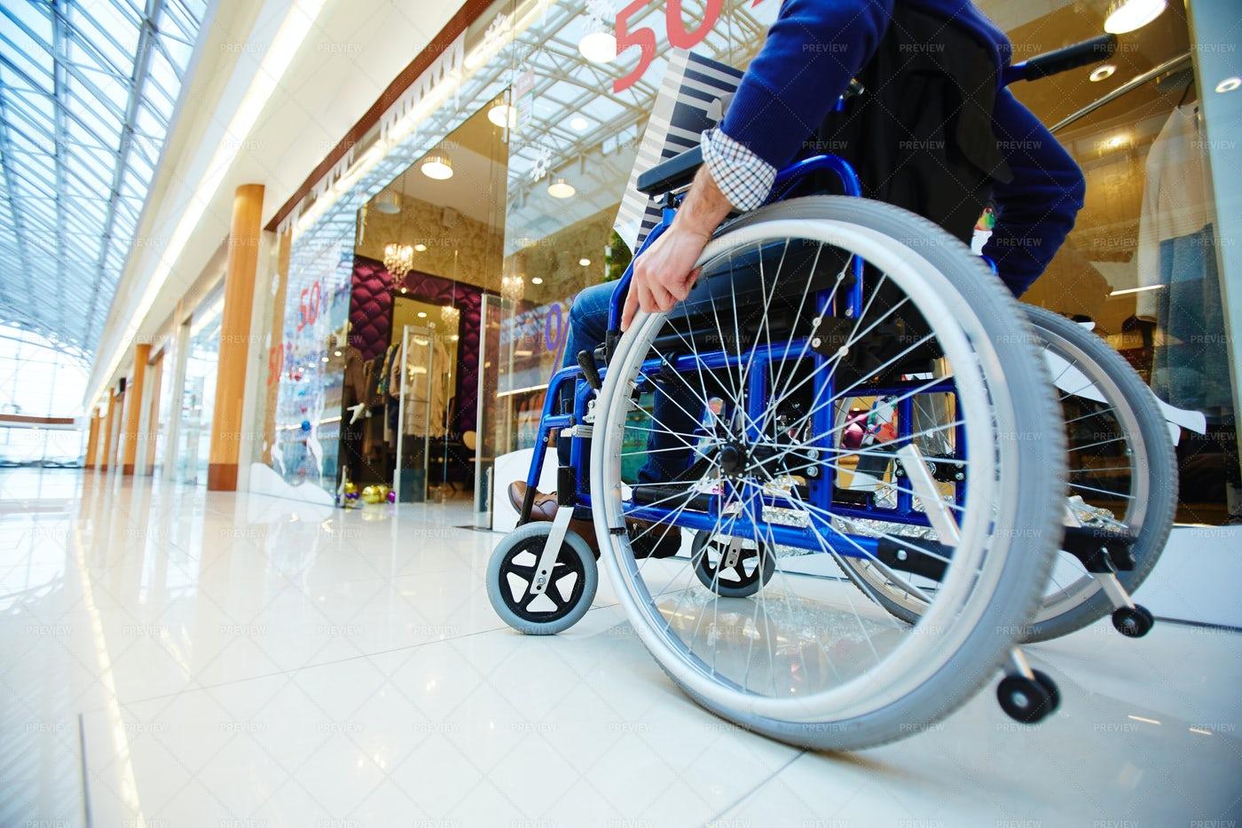 Shopper In Wheelchair: Stock Photos