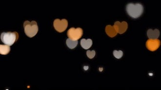 Glowing Hearts Overlays: Motion Graphics