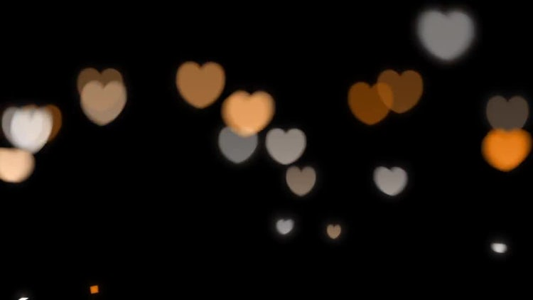 Glowing Hearts Overlays: Stock Motion Graphics