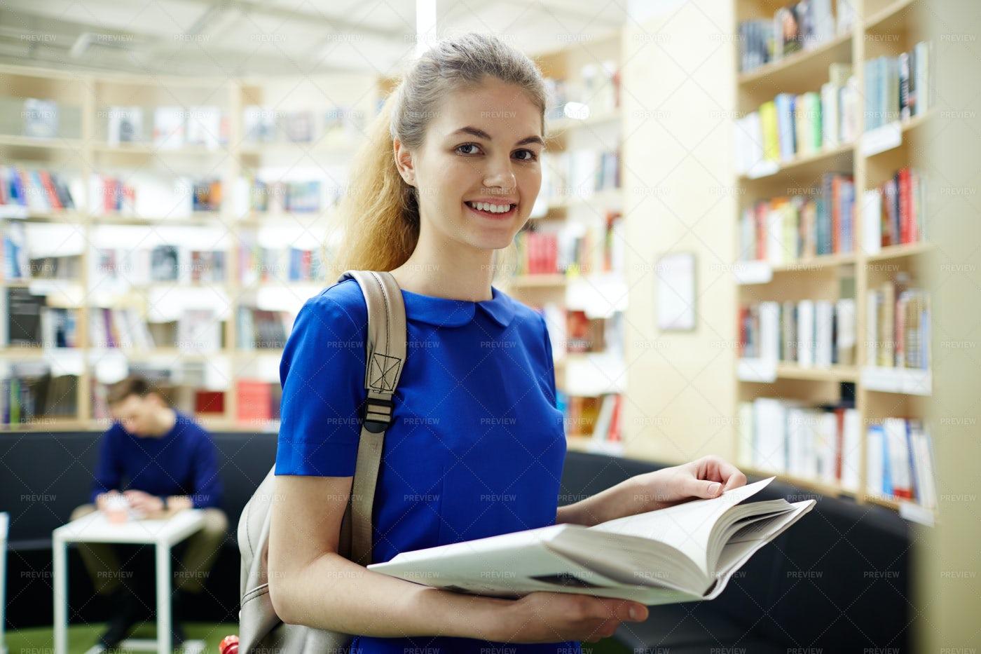 Reader In Library: Stock Photos