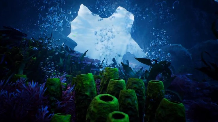 Beauty Under Water : Stock Motion Graphics