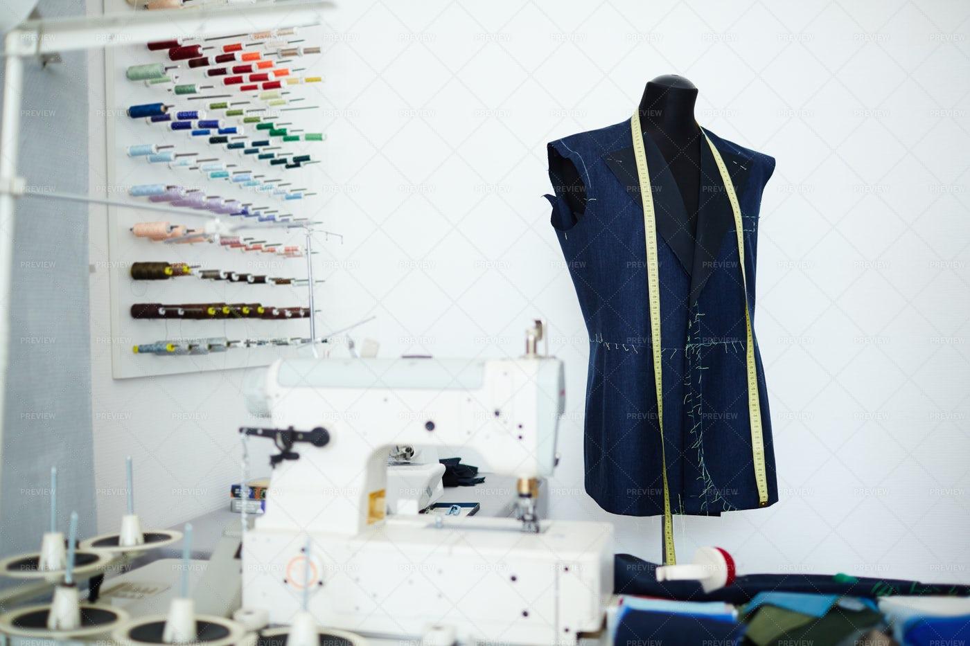 Empty Workshop Of Tailor: Stock Photos