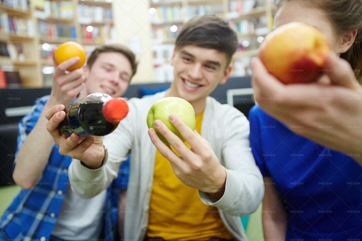 Astronomy Study Group In Library: Stock Photos