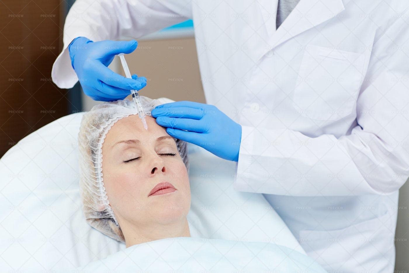 Botox Procedure: Stock Photos