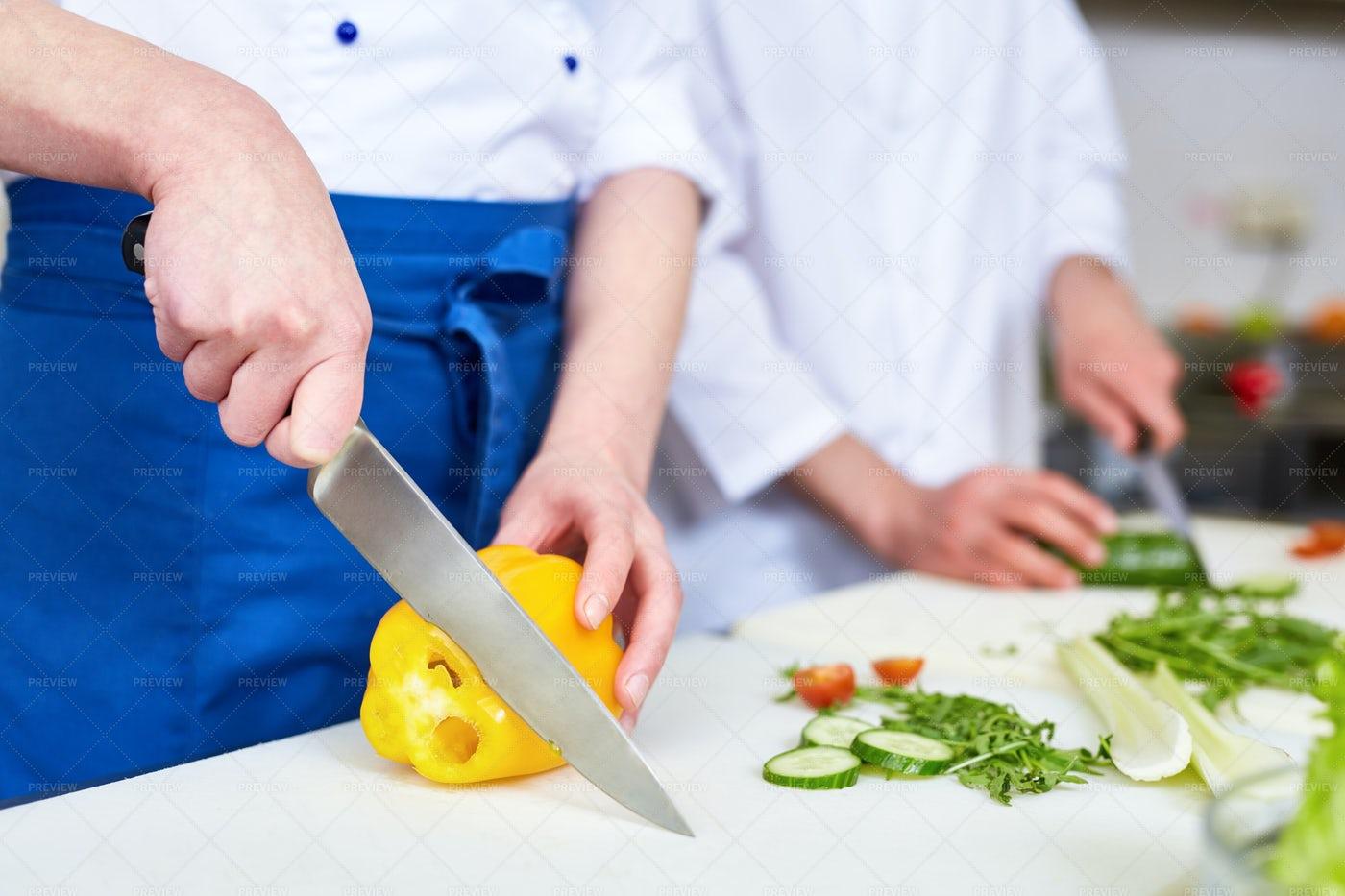 Cooking Salad: Stock Photos