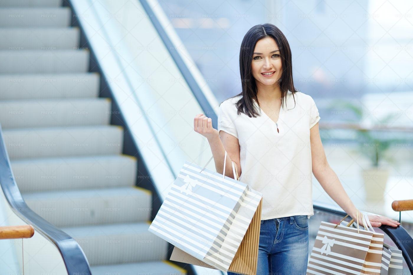Girl In Shopping-center: Stock Photos