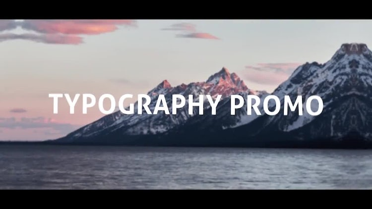 Typography Opener: After Effects Templates