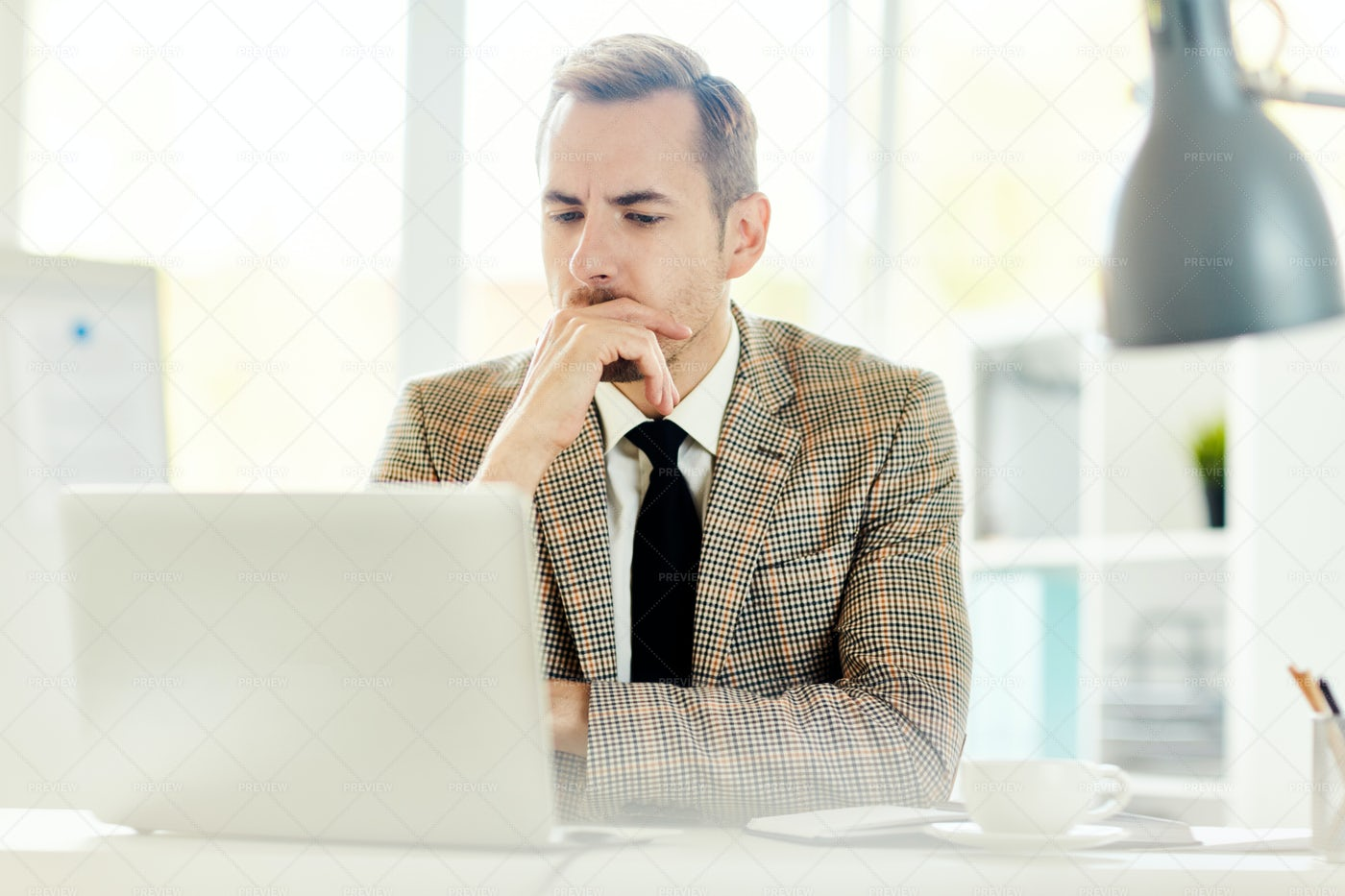 Banker In Office: Stock Photos