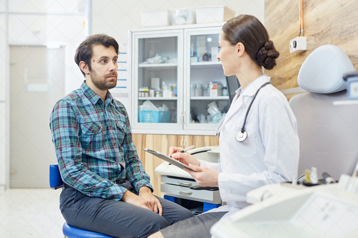 Patient And His Doctor: Stock Photos