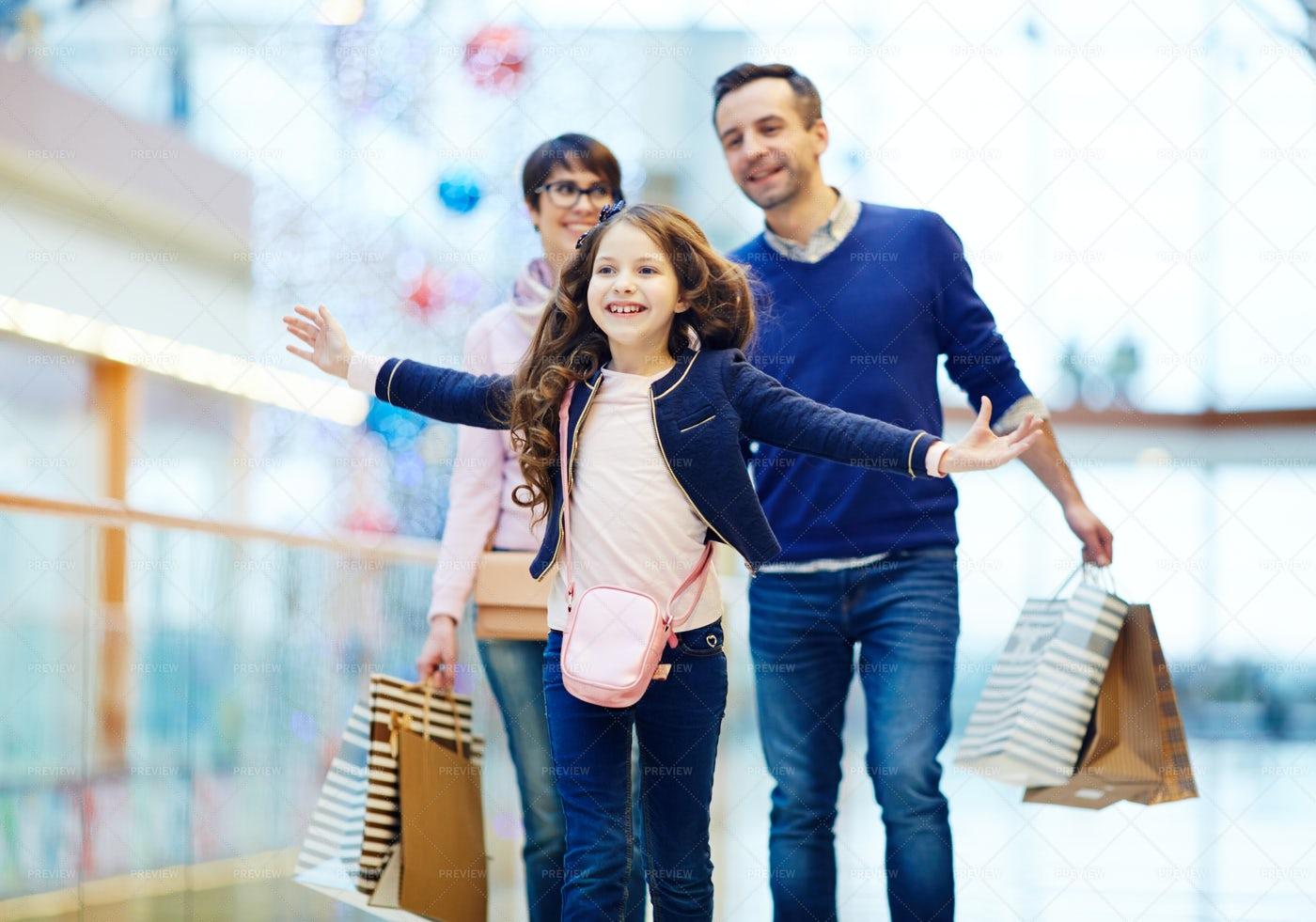 Fun During Shopping: Stock Photos