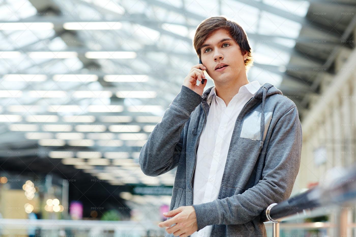 Guy On The Phone: Stock Photos