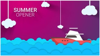 New Summer Vector Intro: After Effects Templates