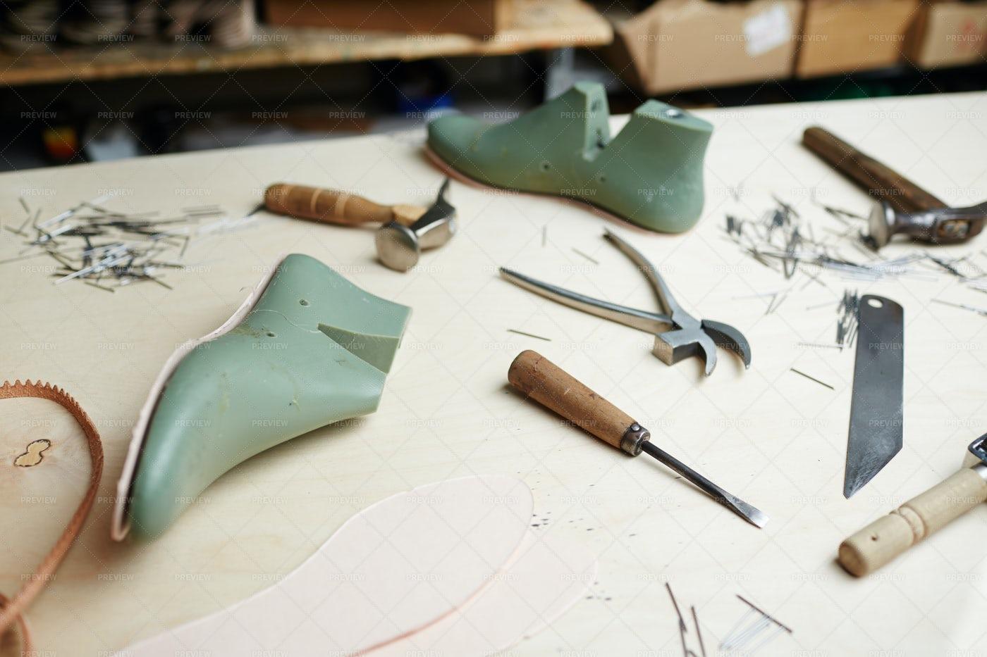 Shoemaking Supplies: Stock Photos