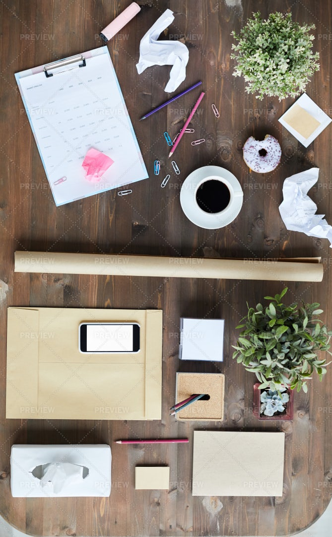 Objects For Work Of Designer: Stock Photos