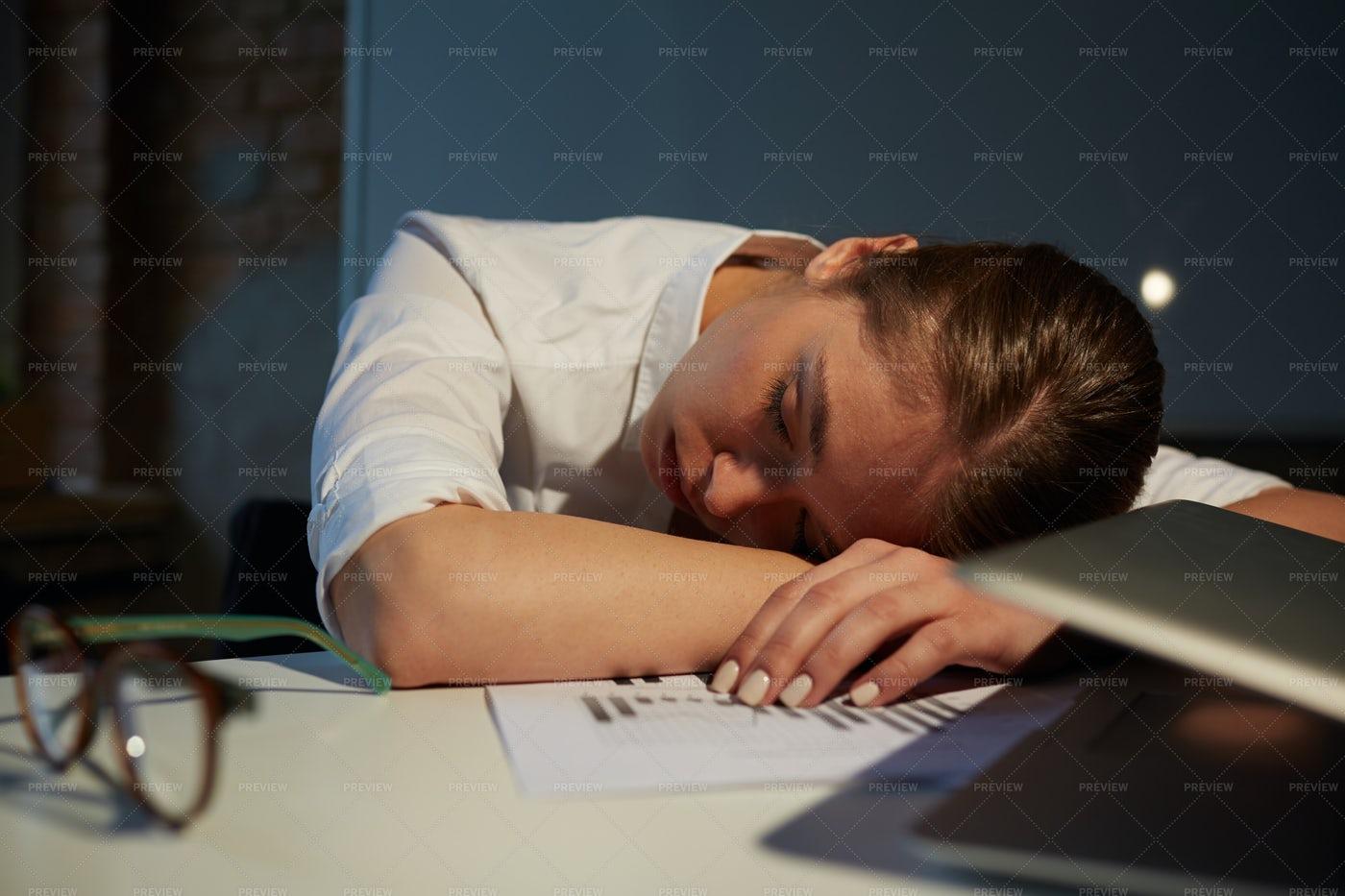 Sleep In Office: Stock Photos
